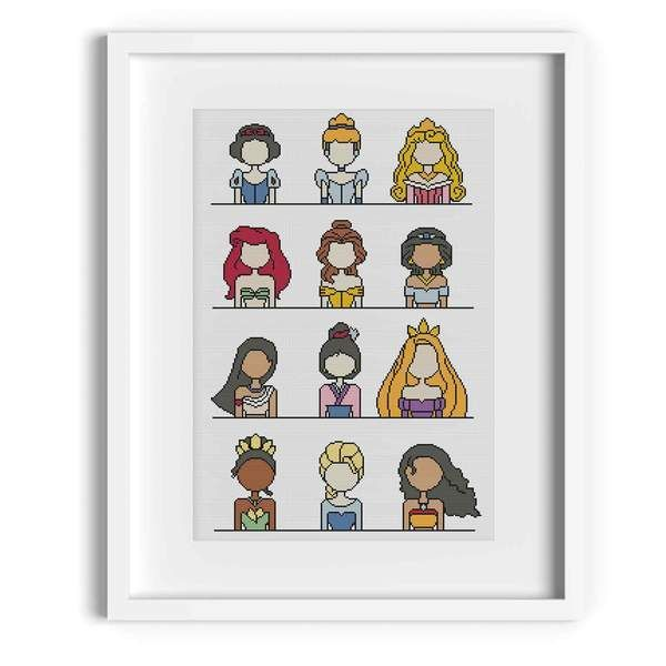 Photo of Disney Princesses Cross Stitch Pattern