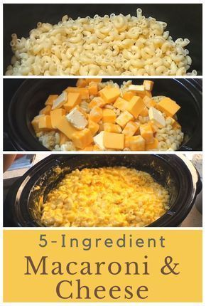 Dump macaroni in your slow cooker for a 5 ingredie