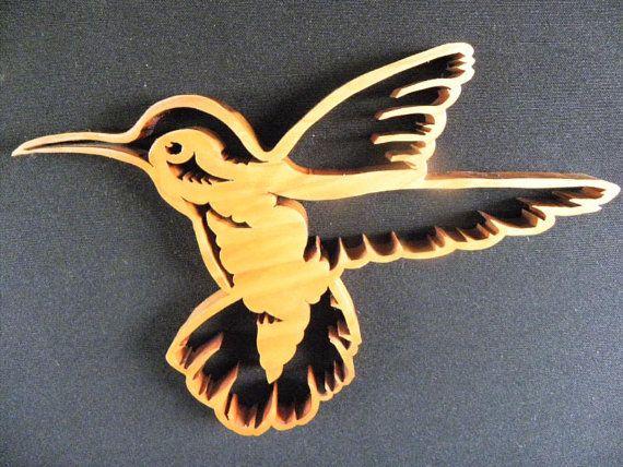 Hummingbird Bird Wall Art Wood Bird Wooden by OutOfTheWoodsUSA | cnc ...