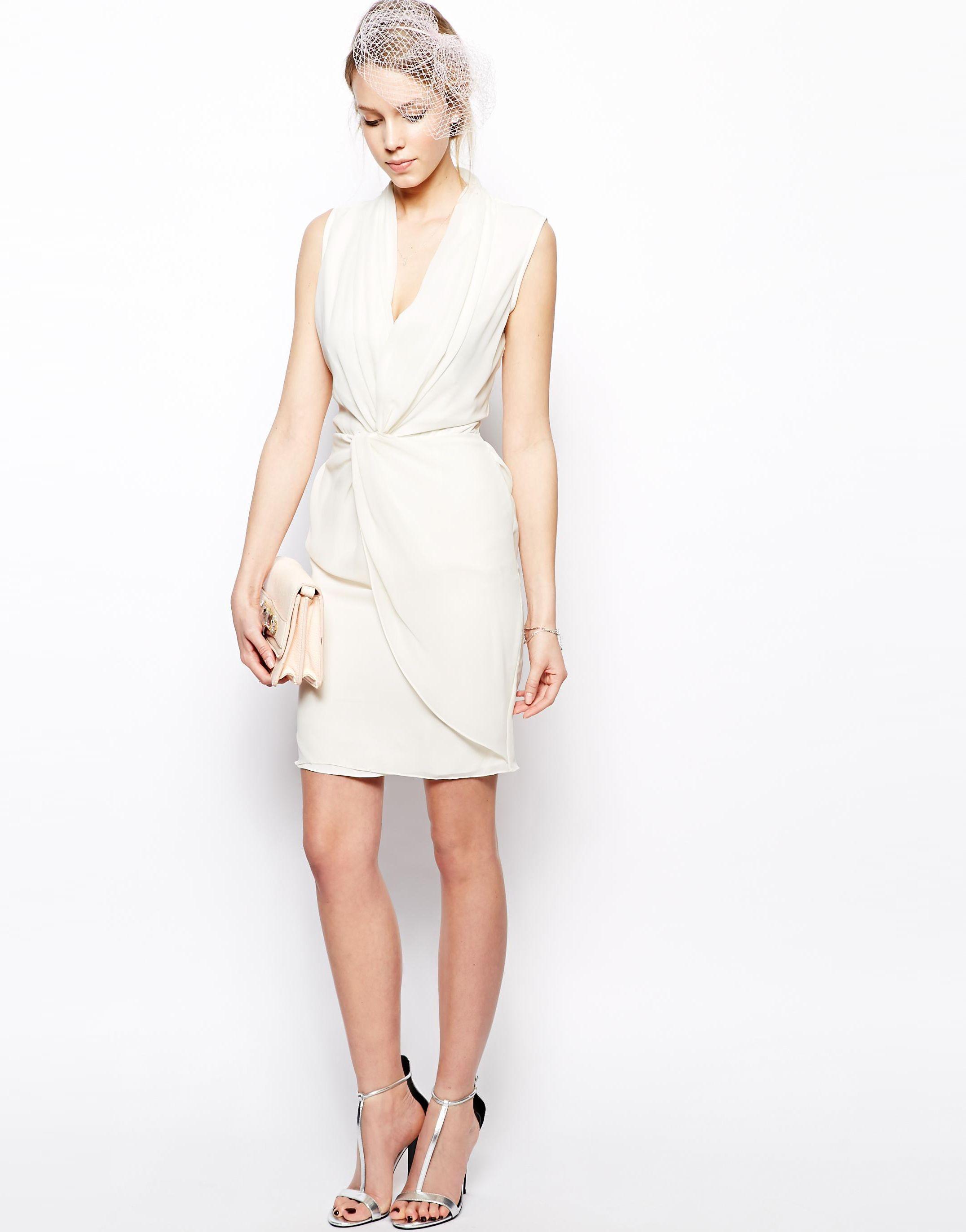 Asos Vlabel London Somerset Tuxedo Dress With Wrap Front 4149329 Gosia Guzowska Dresses Tuxedo Dress Fashion [ 2743 x 2151 Pixel ]