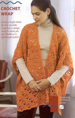 Free Stuff CROCHET PATTERNLace RUANA Crochet WrapEASY Beauteous Crochet Ruana Pattern