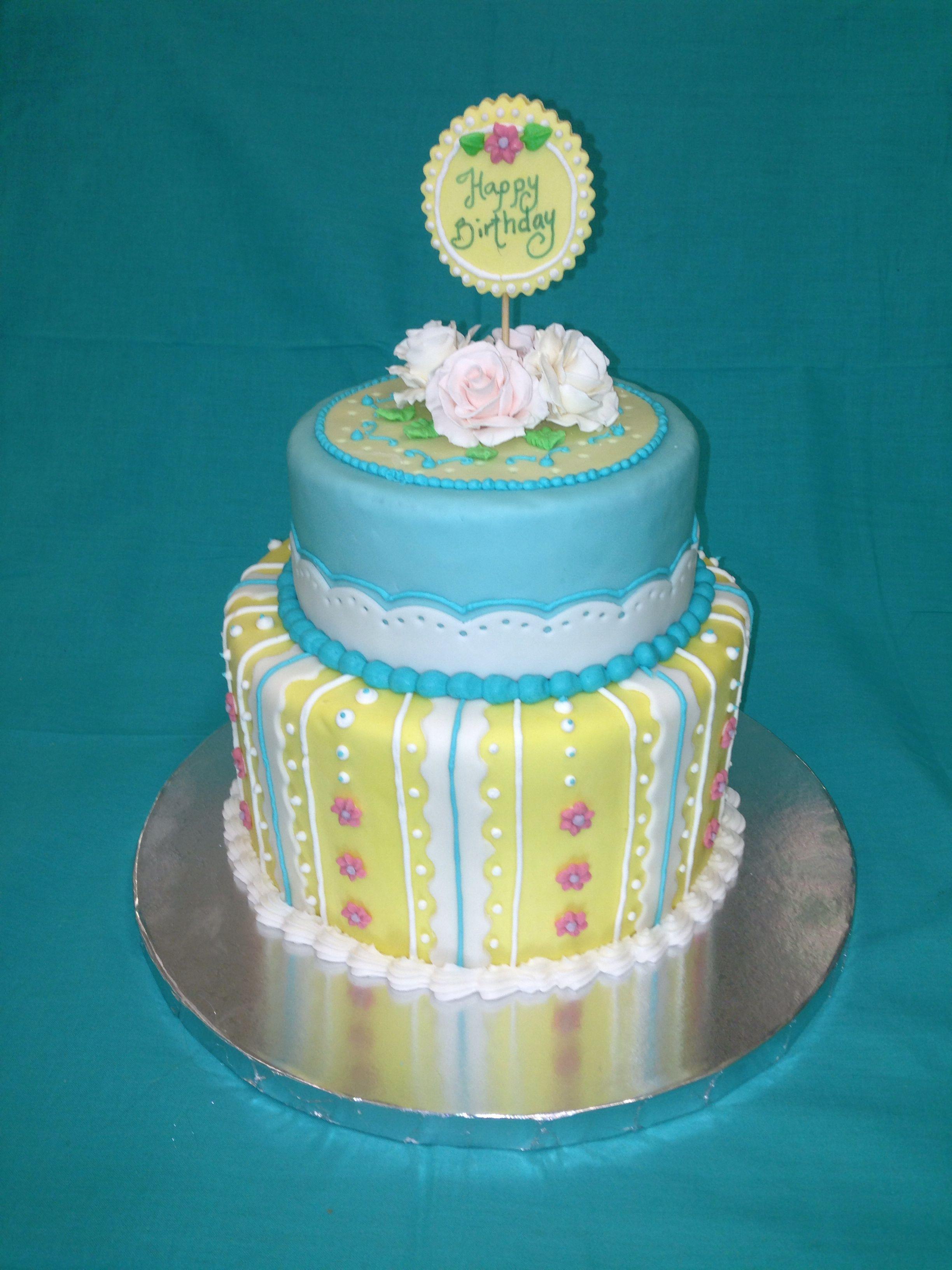 Birthday cake, fondant and frosting