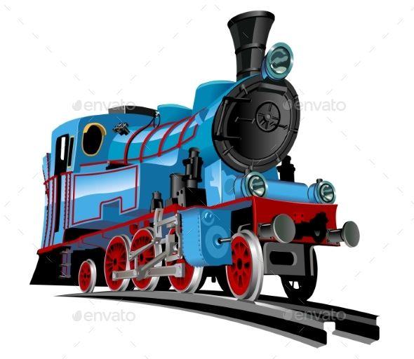 Cartoon Train Vector format, Cartoon and Font logo - copy lionel trains coloring pages