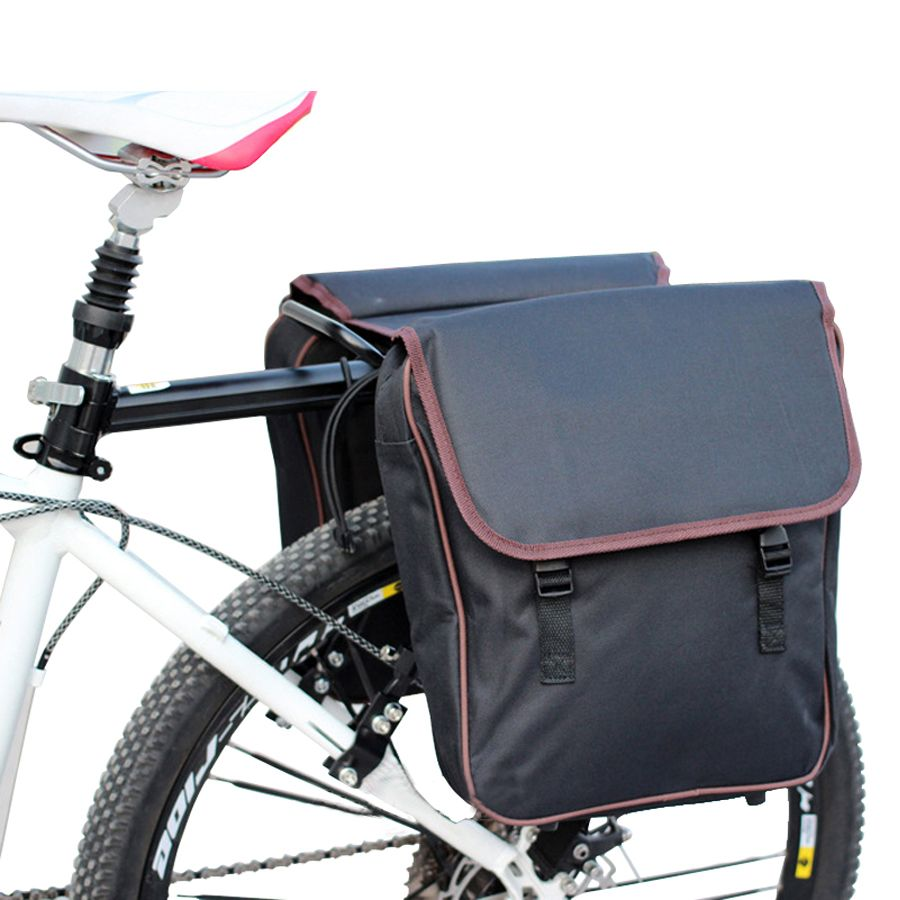 Cycling Double Pannier Bike Rear Seat Saddle Bag Motocycle Carrier Bags