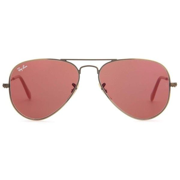 Ray-Ban RB3025 Aviator Sunglasses (240 CAD) ❤ liked on Polyvore featuring accessories, eyewear, sunglasses, pink, aviator sunglasses, aviator style sunglasses, ray ban sunglasses, ray ban eyewear and mirror lens sunglasses