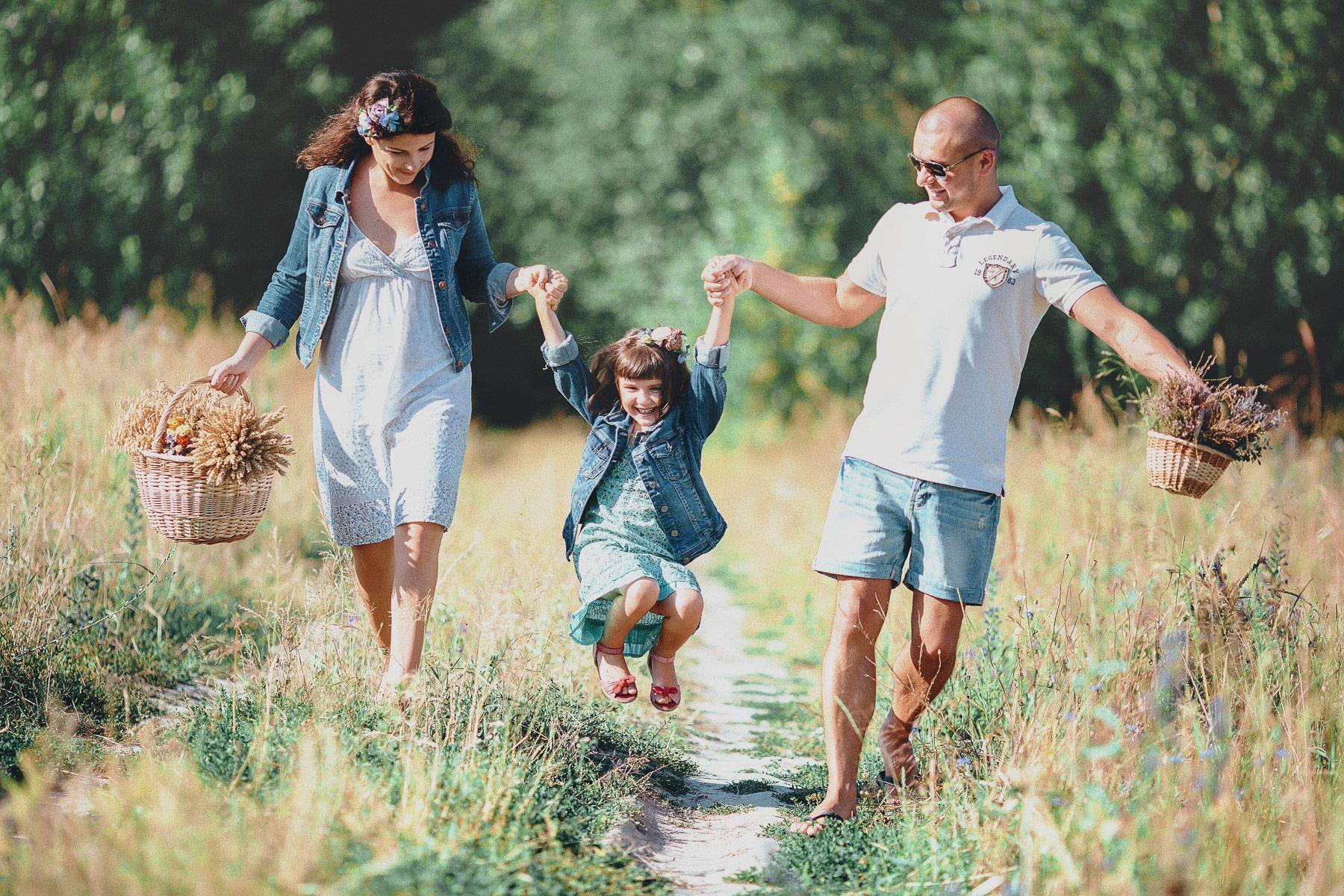 фото семьи на природе летом без лица вовремя обнаружить