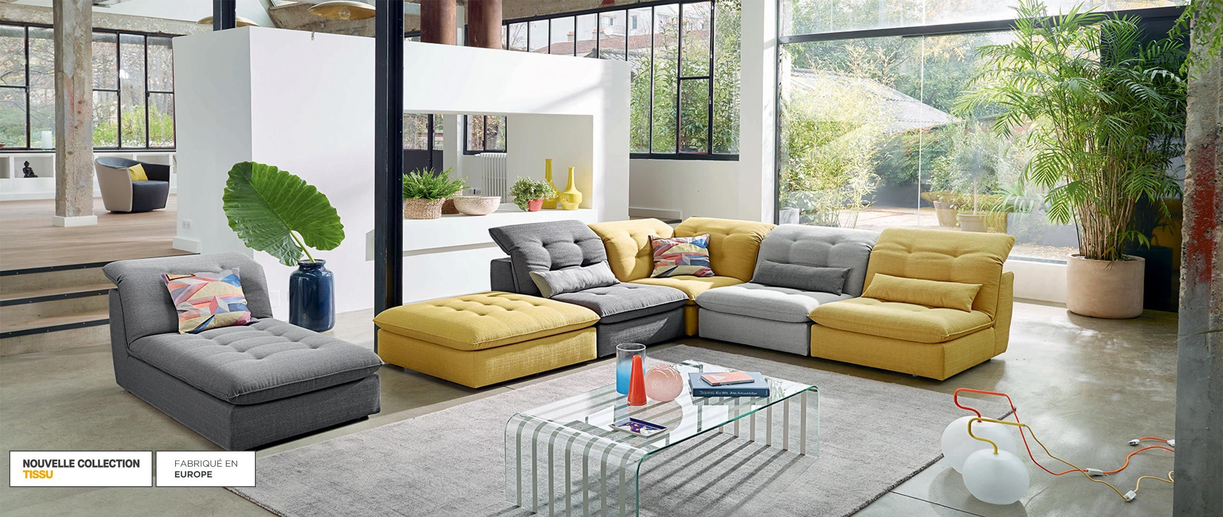 Canapes D Angle En Cuir Cuir De Buffle Cuir Et Tissu Cuir Center Cuir Center Cuir Center Canape Composable Canape Angle