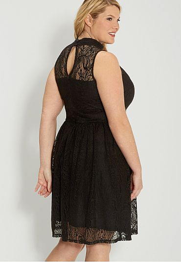 plus size little black lace dress - maurices.com | Stylin\' | Dresses ...