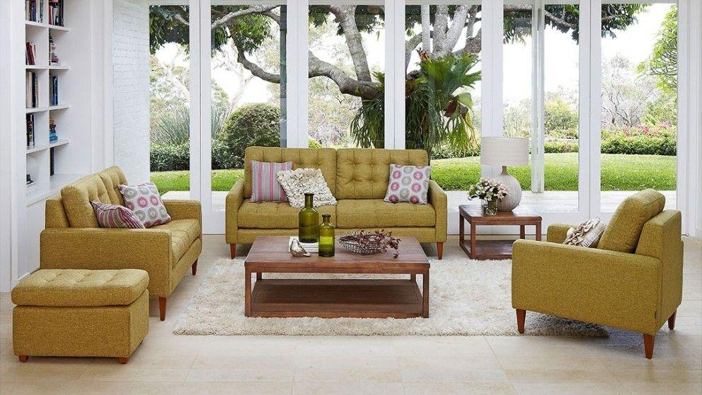 Opus 3 Seater Fabric Sofa   Lounges   Living Room   Furniture, Outdoor U0026  BBQs