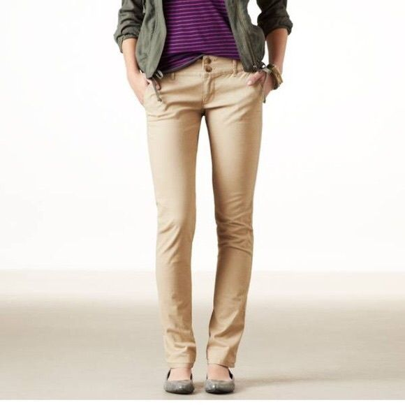 American Eagle Women Khaki Pants Never worn perfectly new. American Eagle Outfitters Pants Boot ...