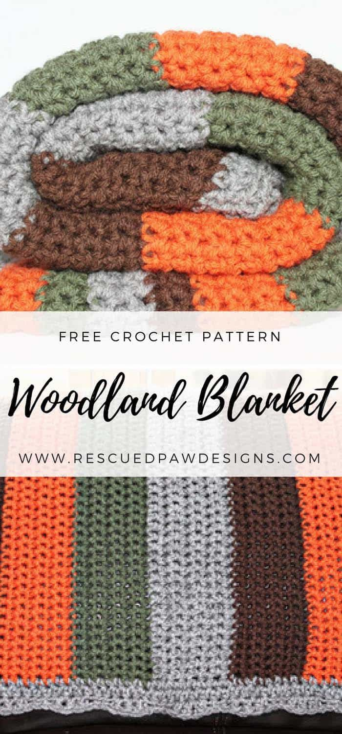 Free Crochet Blanket Pattern - The Woodland Blanket by RPD ...