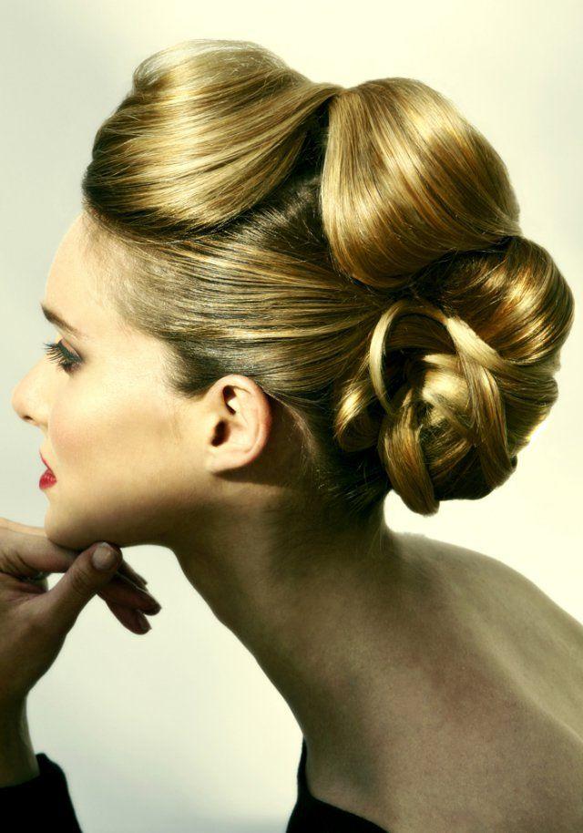 Le chignon boucl de ma haute coiffure marie claire - Chignon annee 60 ...