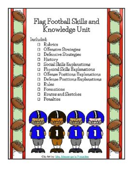 Flag Football Unit Physical Education Rules Strategy Rubric