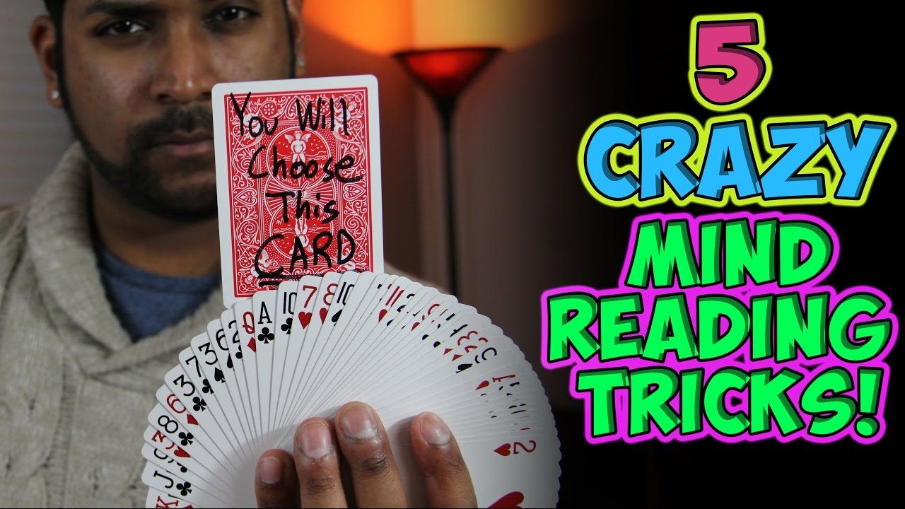 5 crazy mind reading card tricks tutorial  mind reading