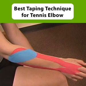 Taping Technique For Tennis Elbow Tennis Elbow Tennis Elbow Treatment Tennis Elbow Exercises