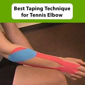 taping technique for tennis elbow | Tennis elbow Tennis ...