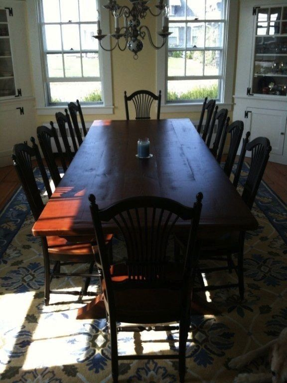custom 11ft dining table with 10 fan back chairs made fromcustom 11ft dining table with 10 fan back chairs made from reclaimed wood ecustomfinishes com