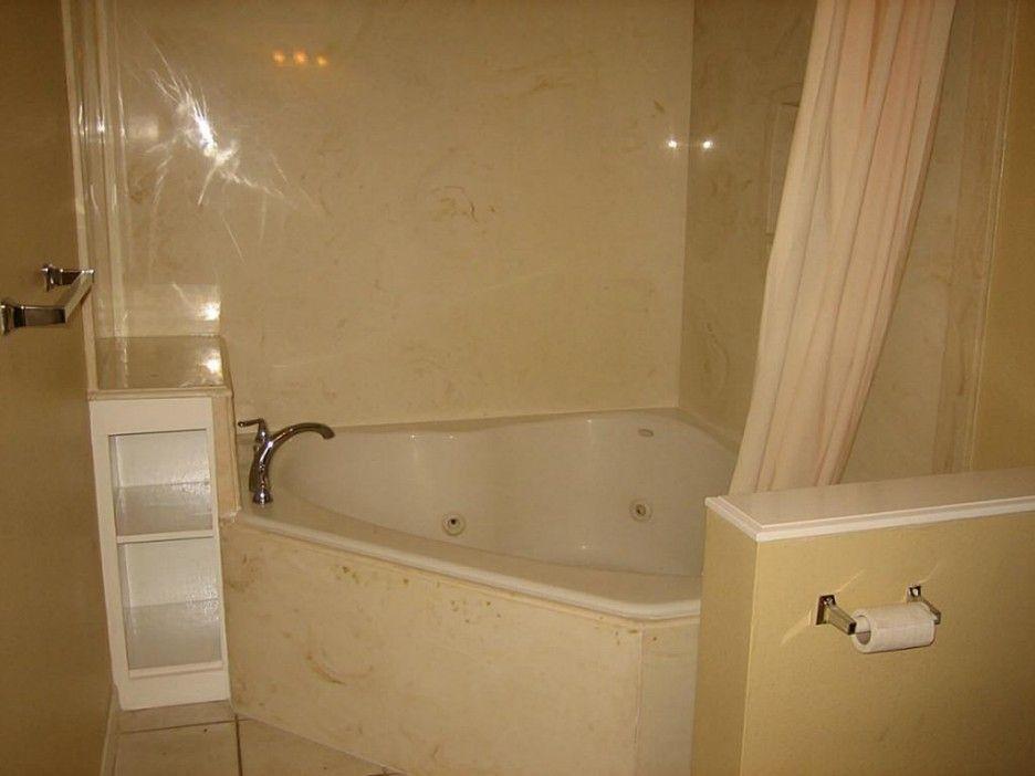 Corner tub with stub wall Furniture Interior Bathroom. Divine Shower ...