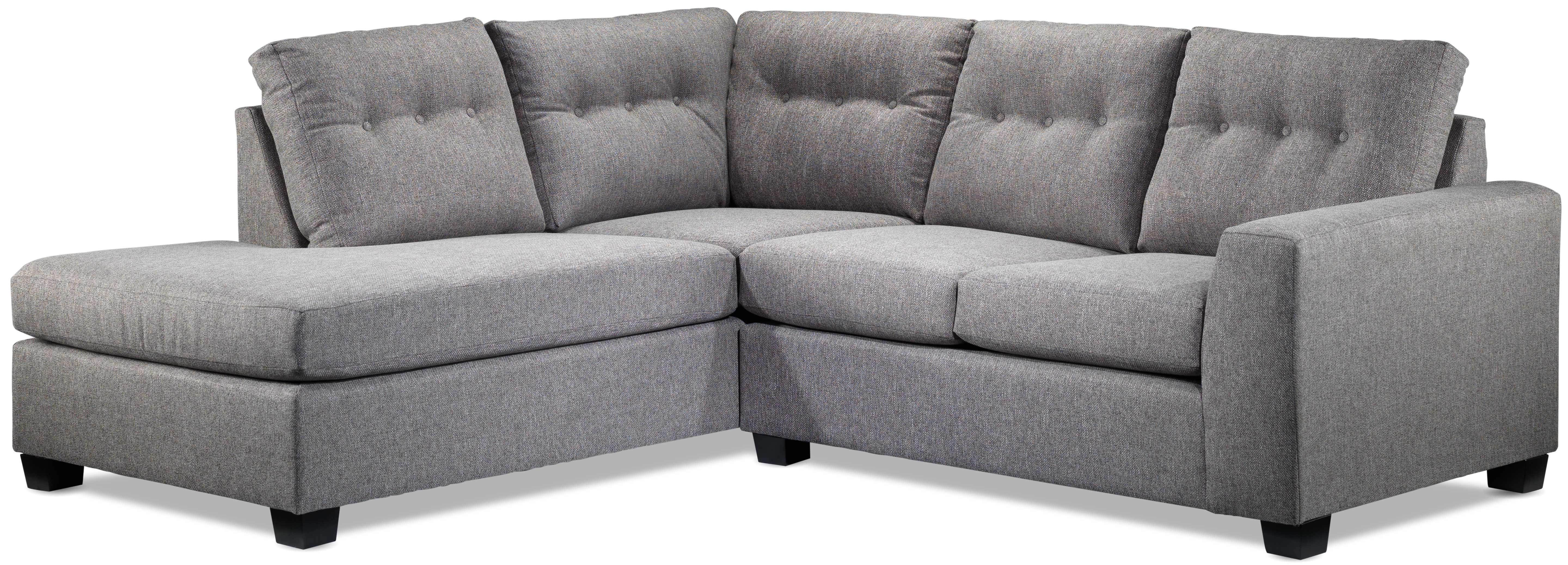 Estelle 2 Piece Sectional With Left Facing Chaise Grey Left Facing Chaise Sectional Mattress Sofa