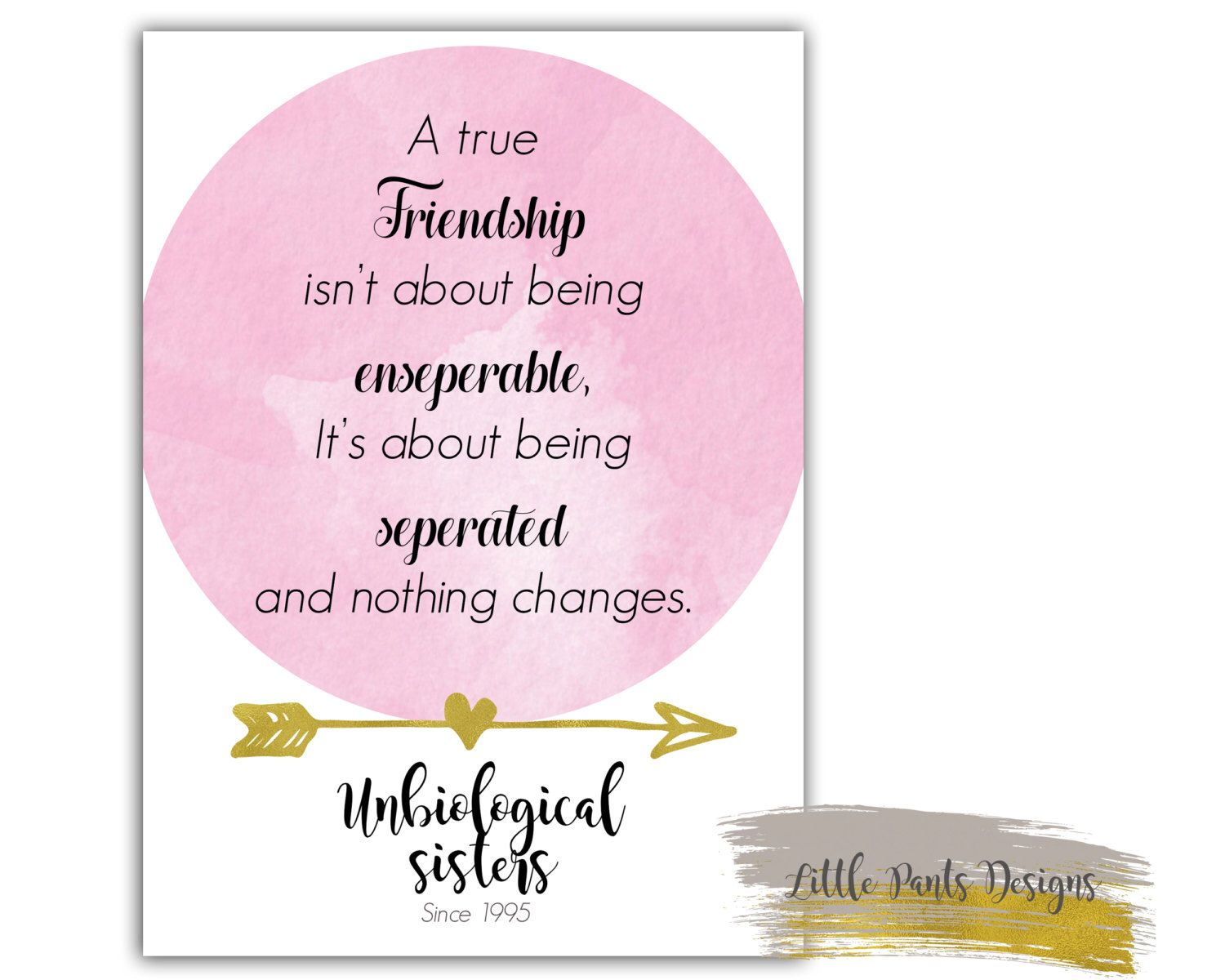 Sister friendship theme unbiological sister greeting card print sister friendship theme unbiological sister greeting card print digital file for your best friend kristyandbryce Choice Image