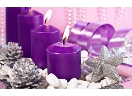 Стразы «Фиолетовые свечи»  картина стразами, алмазная вышивка, алмазная мозаика, живопись стразами, дизайн, недорого, своими руками, поделки своими руками