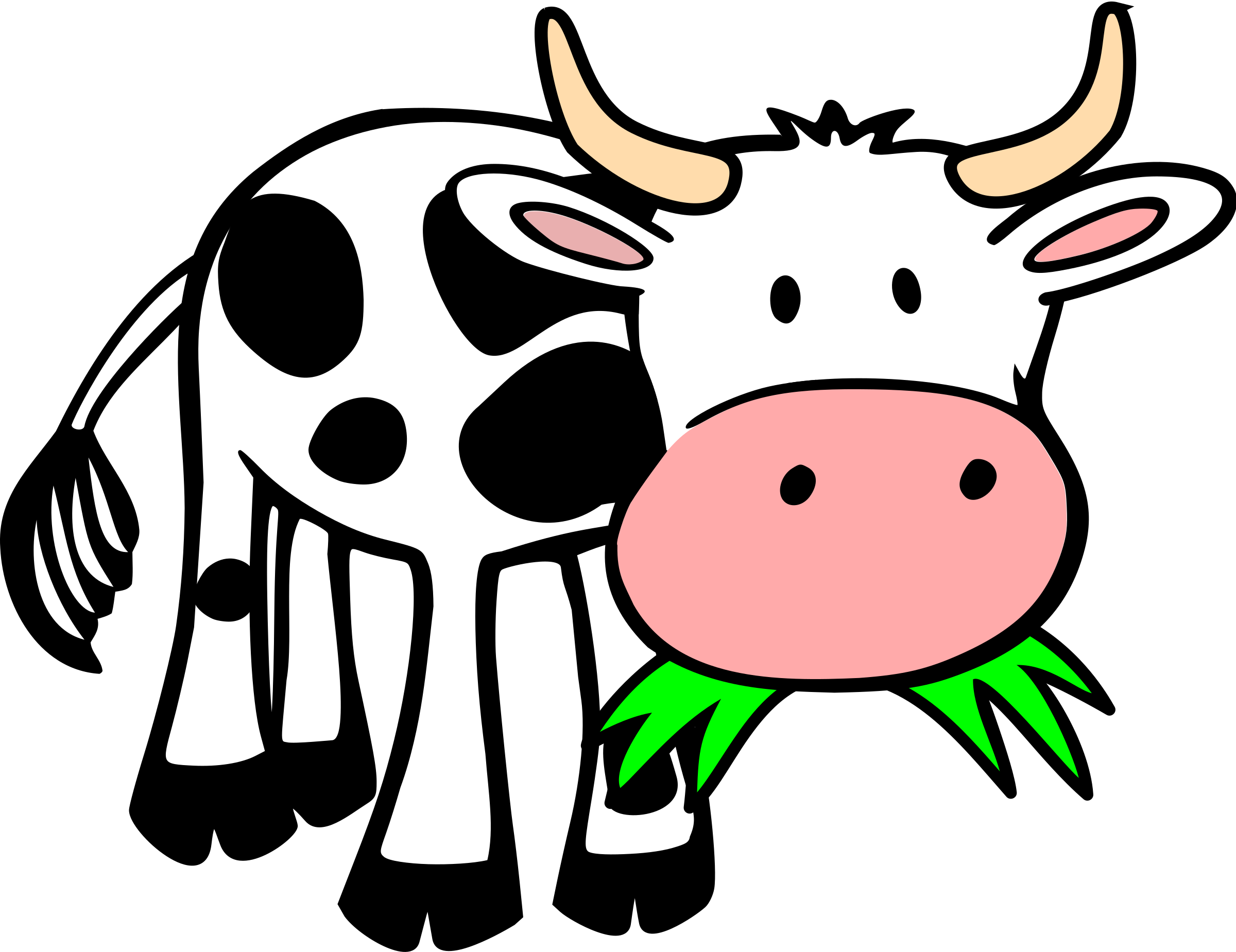 Grasseating cow Vacas