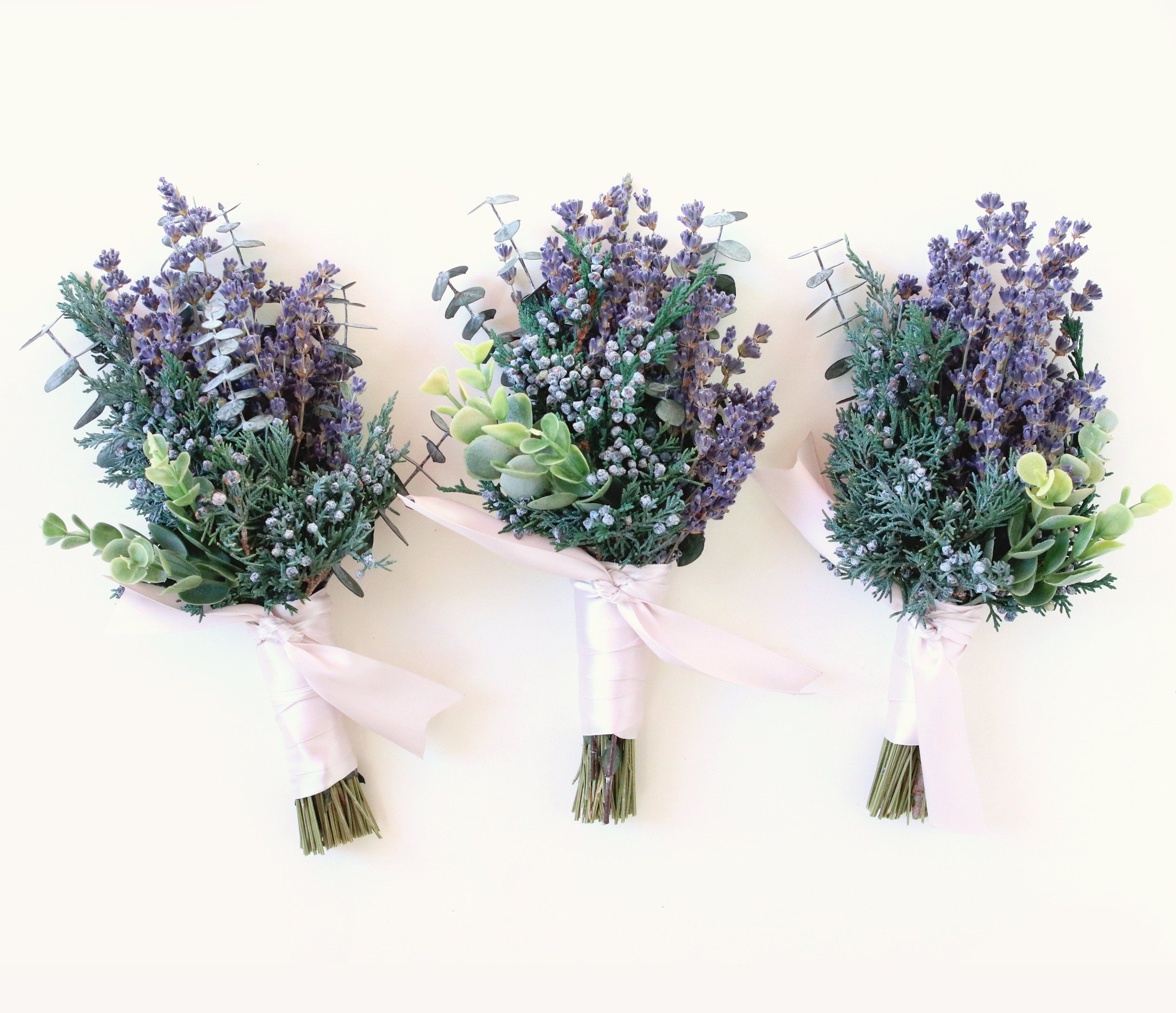 Mini Fragrant Bunch Eucalyptus Juniper And Lavender Dried Flower Bundle Dried Floral Bouquet Dried Flower Bouquet Lavender Wedding Flowers Wedding Flowers