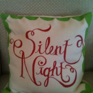 Christmas pillow & Hand painted hand made pillow cover | My DIY Christmas | Pinterest ... pillowsntoast.com