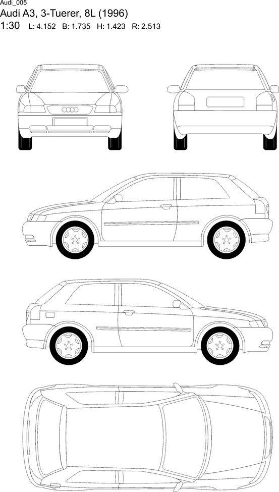Car blueprint blueprints cars pinterest cars audi a3 and car blueprint malvernweather Choice Image