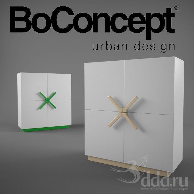 3DDD Model - BoConcept Ottawa - R010 3dsMax 2012 + fbx (Vray) : Тумбы, комоды : Файлы : 3D модели, уроки, текстуры, 3d max, Vray