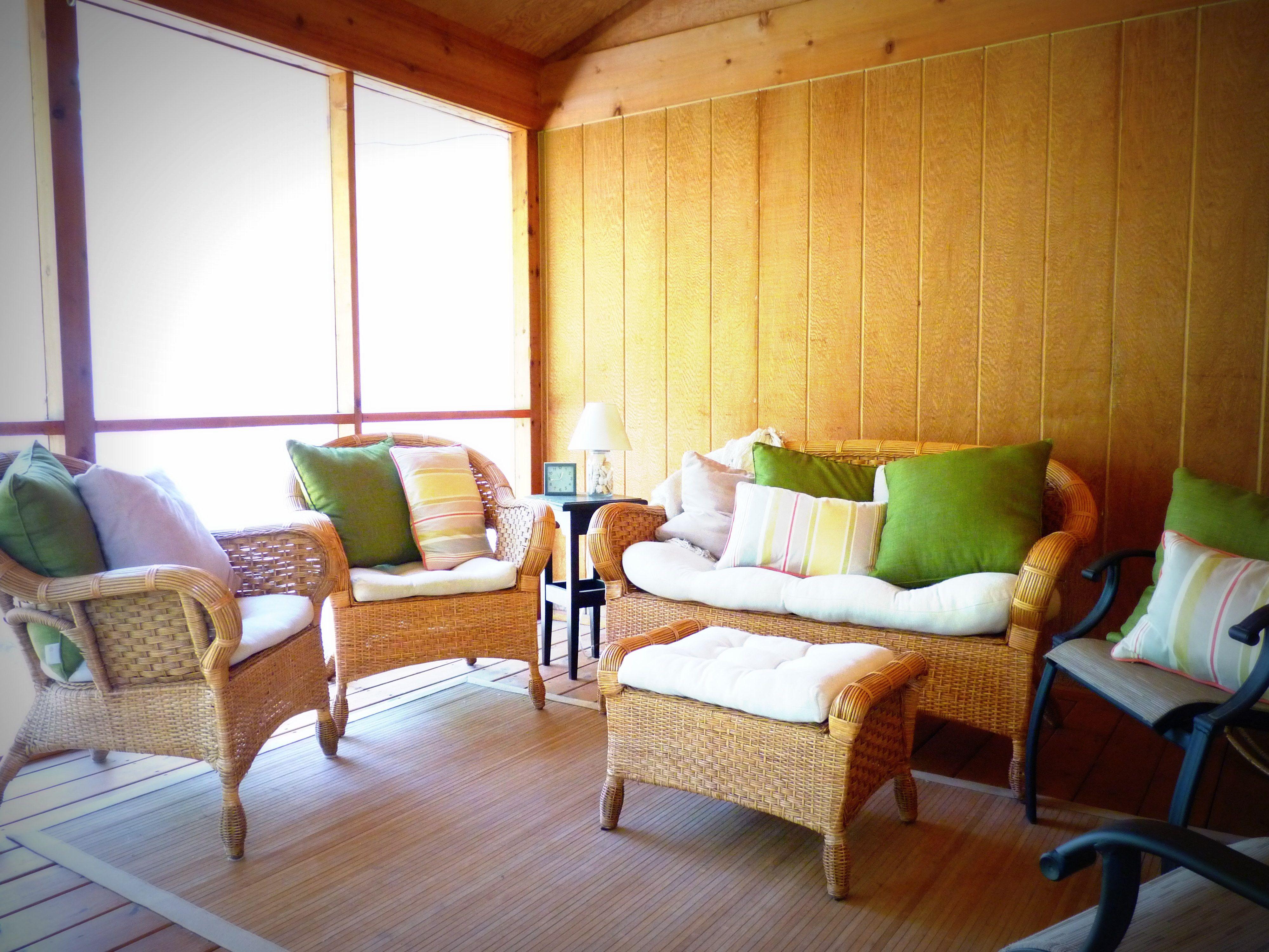 Screen Porch All Wicker Furniture Is Pier One Via
