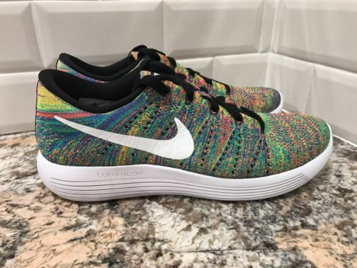 promo code 05faa 00bf5 Nike Lunarepic Low Flyknit Multicolor Rainbow Mens Running SZ 8 843764-004
