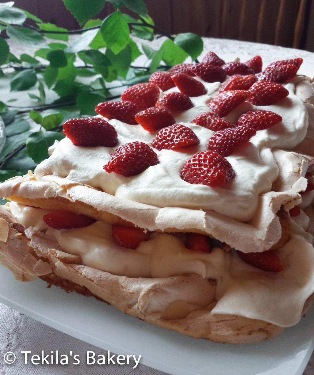 Strawberry brita cake Bakery, Baking, Food