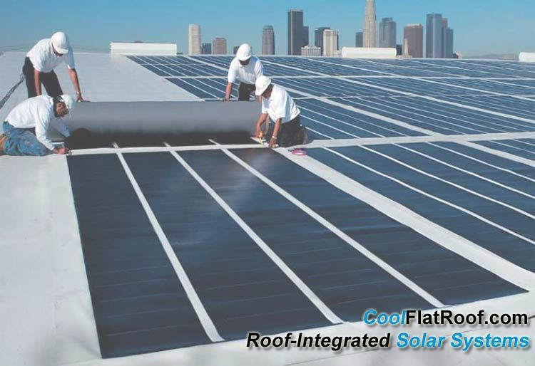 Combine Green Pvc Flat Roof With Solar Panels For Optimal