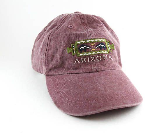 08833f7ba Vintage Arizona Aztec Dad Hat // Distressed Southwestern Purplish ...
