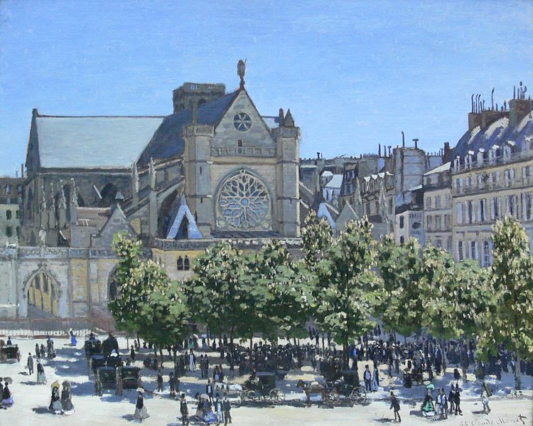 Monet: La iglesia Saint-Germain-l'Auxerois - 1867 - óleo sobre lienzo - Alte Nationalgalerie en Berlín