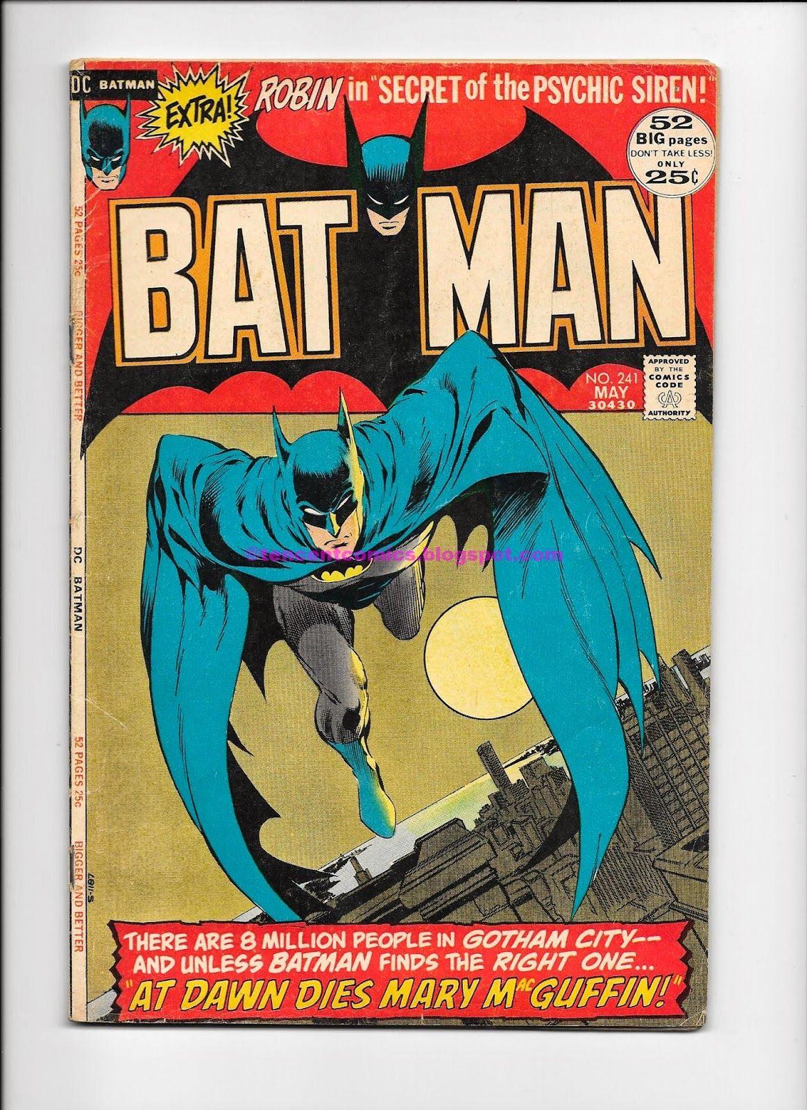Comic books for sale batman 241 1972 batman comic books