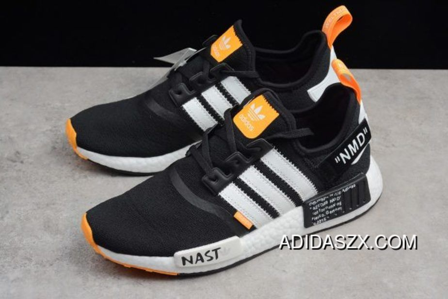 c08fc3b5fd3 Off-White X Adidas Nmd R1 Nmd Black White Orange Online in 2019 ...