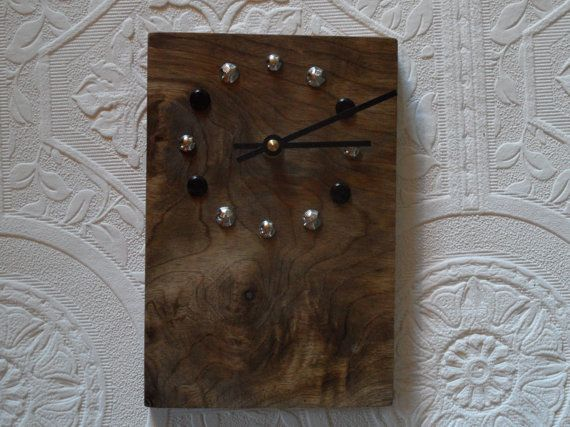 Oregon Myrtlewood Reclaimed Wood Clock By