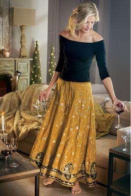 FALDAS from Surroundings PANTALON Skirt Soft Embellished Samaira qCwYS7