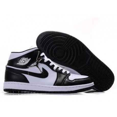 d7b69cd6b4a204 Nike Air Jordan 1 Retro Shoes 09 Black White men online in 2018 ...