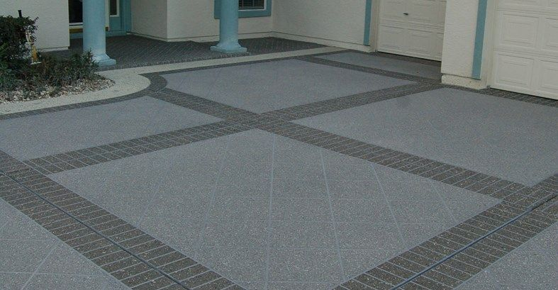 Concrete Driveway, Stenciled Brick Bands Site Custom Ram Design ...