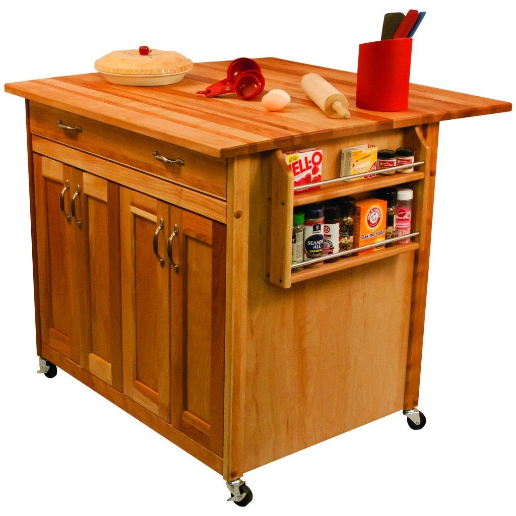 Moveable Kitchen Island Efficient Rolling Very Good