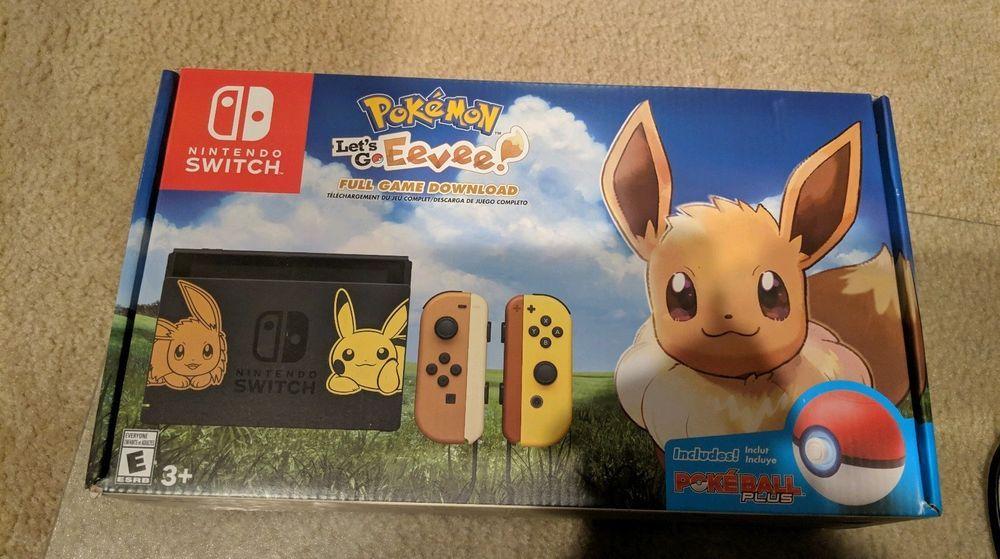 New Nintendo Switch Pikachu Eevee Edition Pokemon Let S Go Eevee