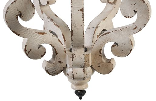 Distressed Wood Chandelier Chandeliers White Décor Steals