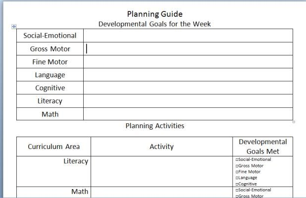 Creative Curriculum Blank Lesson Plan planningguideimagejpg - needs assessment format