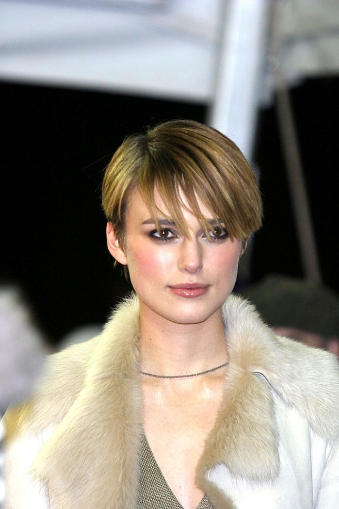 High Quality Keira Knightley Sported A Highlighted Pixie Haircut. Photo: Everett  Collection / Shutterstock.com