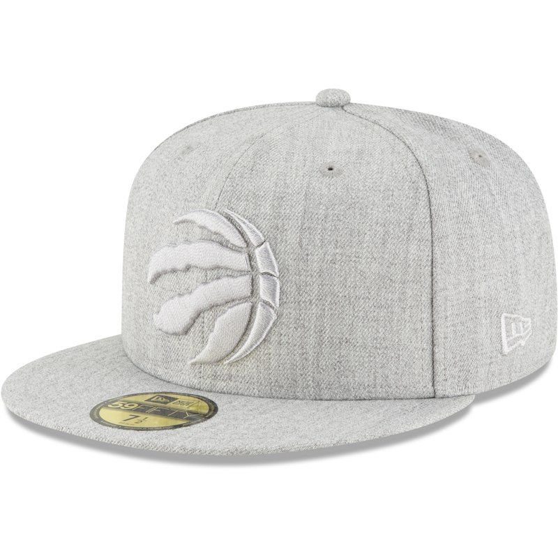 fa24b1626a5cb8 Toronto Raptors New Era Twisted Frame 59FIFTY Fitted Hat - Gray in ...