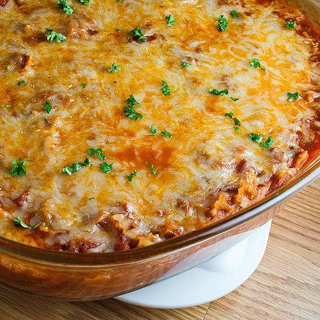 Easy, fast pasta bake. I'm making this tonight! Adding ground turkey! :)