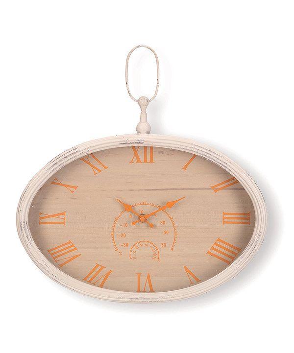 Look at this #zulilyfind! Edith Wall Clock by Foreside #zulilyfinds